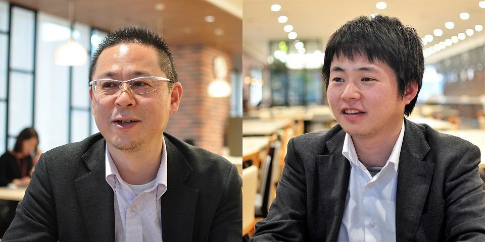 情報企画部 IT基盤グループ マネージャーの大杉穣氏(左)と田中達也氏